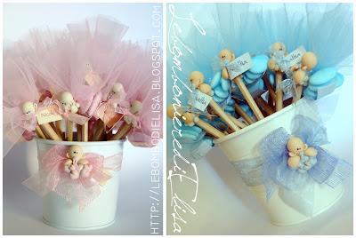 bomboniere nascita rosa e azzurre