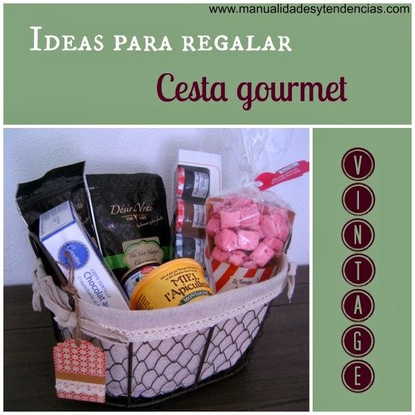 Idea regalo cesta gourmet vintage