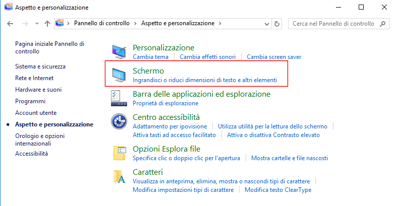 Windows 10, Schermo