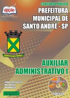Apostila Prefeitura de Santo André 2015 (SP) Auxiliar Administrativo (PDF)