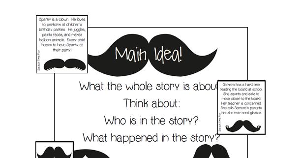 Reading Comprehension Stories: Mustache Main Idea!