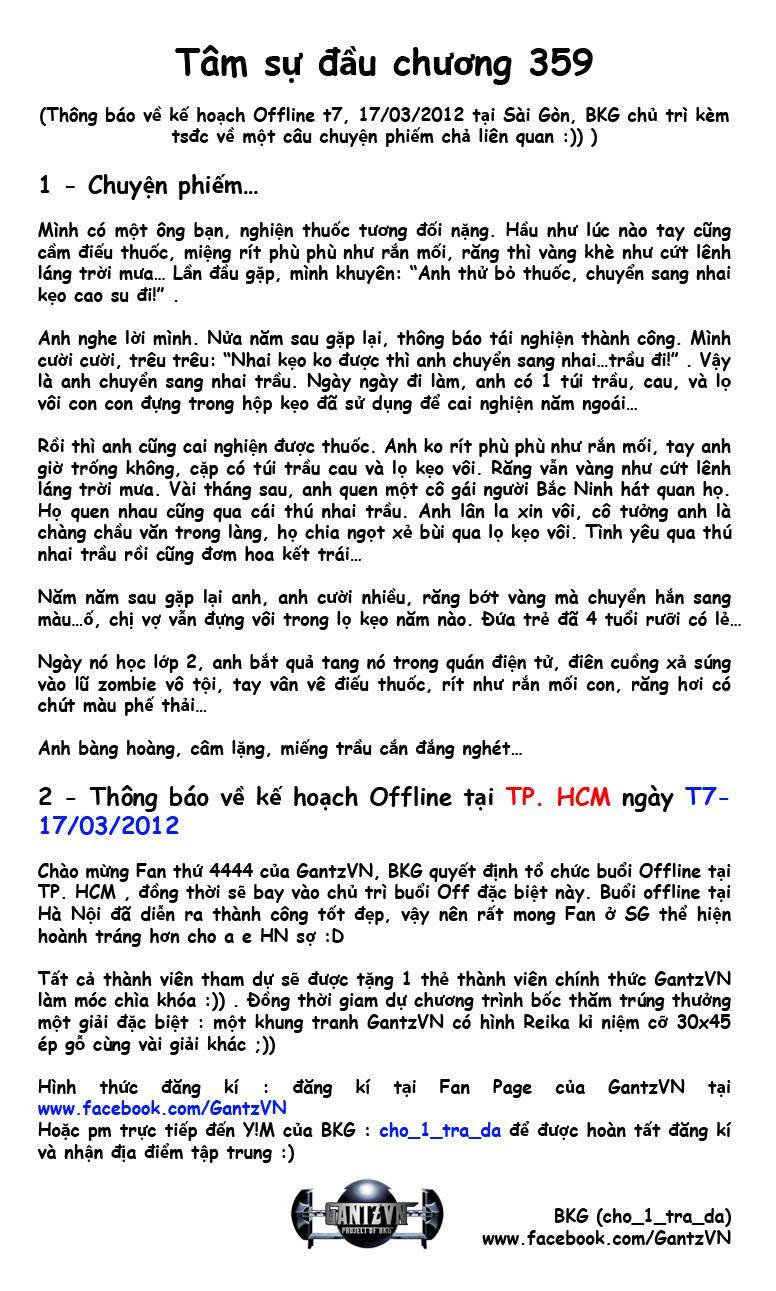 Gantz chap 359 trang 1