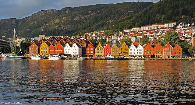 Ville de Bergen, Norvège du sud