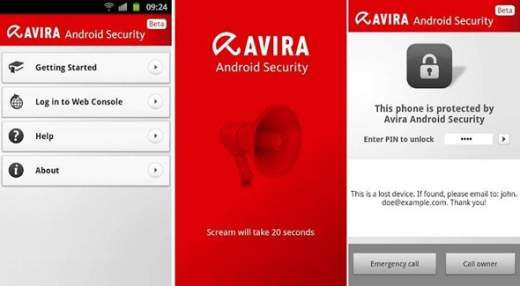 Avira Antivirus app for Android