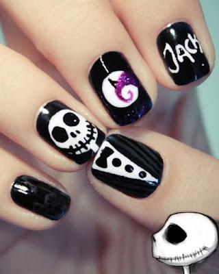 decoracion de uñas de halloween jack