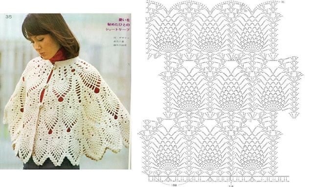 Patron Crochet Bolero con hombros marcados