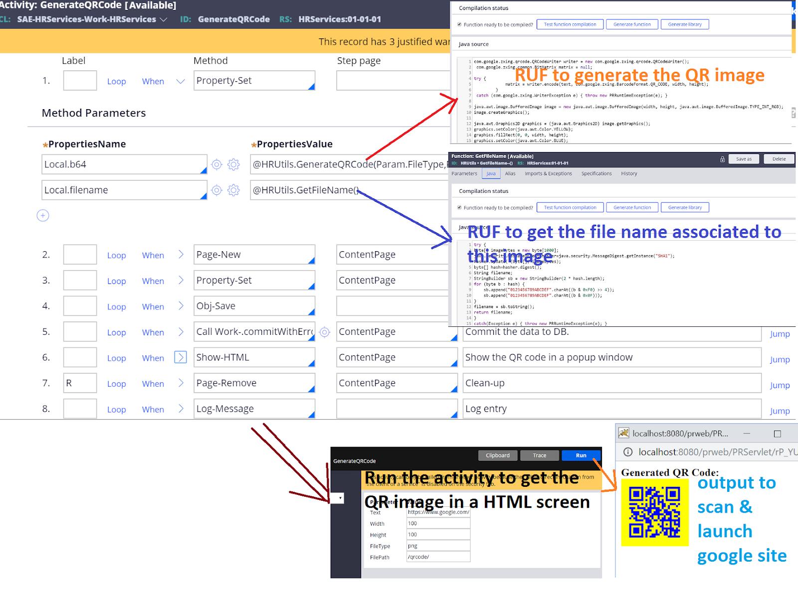 Ravi Kumar Blog Posts: Generate QR code from Pega