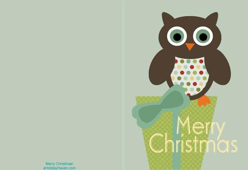 My Owl Barn Printable Christmas Cards