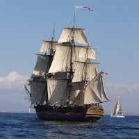 sailing ship, mast, HMS Surprise