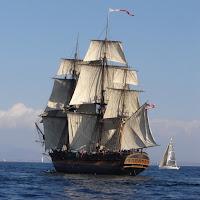 sailing ship, mast, HMS Surprise