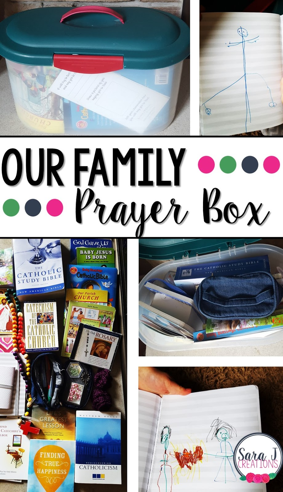 Do you want to know how to make a family prayer box?  Creating a family prayer box was a simple no cost way to shift our prayer life to include our girls.  There are some great ideas for what to include so that every member of the family is included.