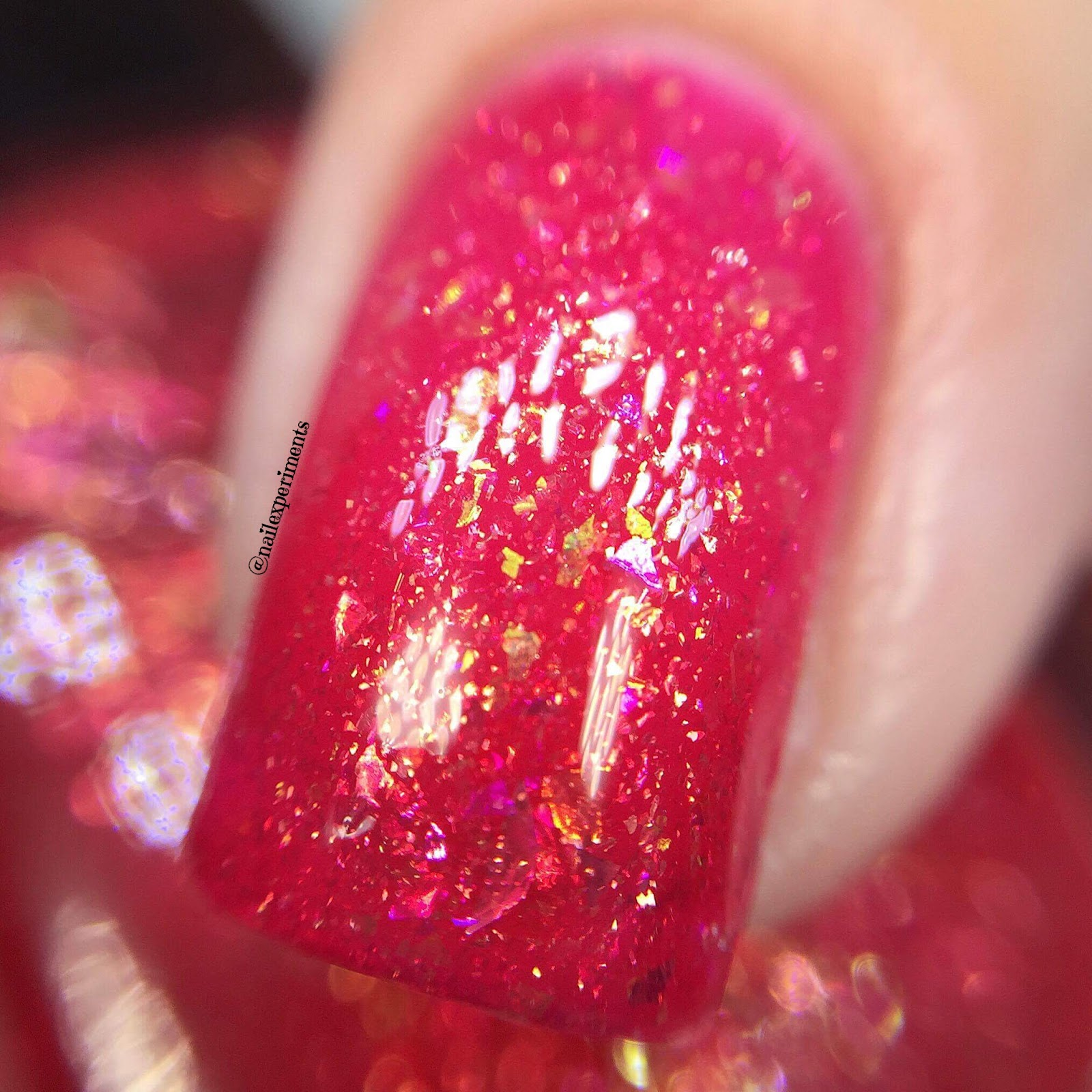 ever after polish flake it up jellies tequila sunrise swatch