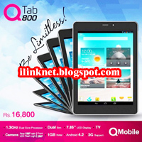 QMobile Tablet QTab Q800 Unboxing & Review | ilink circle