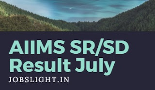 AIIMS SR/SD Result July