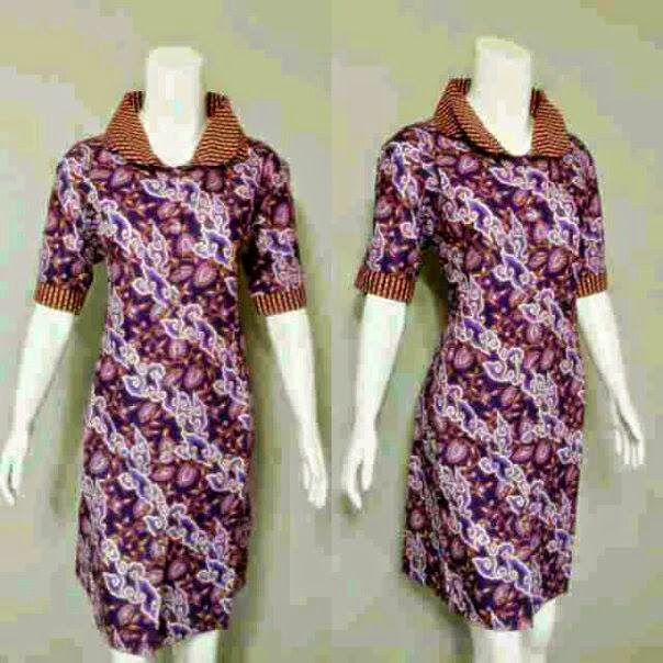 Model Baju Batik Wanita 2015: Baju Wanita Model Mini Dress Batik Terbaru
