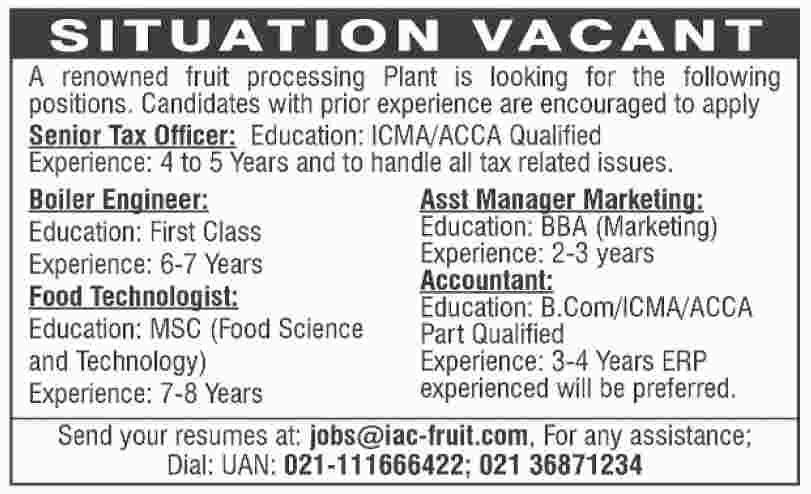 Latest private jobs in Karachi Apply via Email