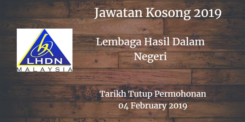 Jawatan Kosong LDHN 04 February 2019