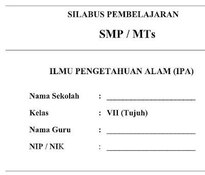 Silabus Kurikulum 2013 IPA Kelas VII (7) SMP/MTs-http://www.librarypendidikan.com/