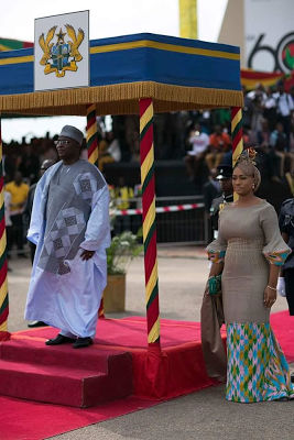 Photos: Wife of Ghana's Vice President Samira Bawumia looked stunning at 60th Independence celebration