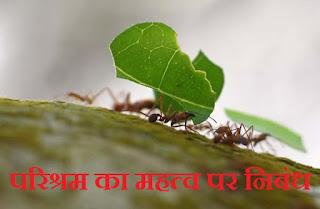 परिश्रम का महत्व पर निबंध। Parishram ka Mahatva Essay in Hindi