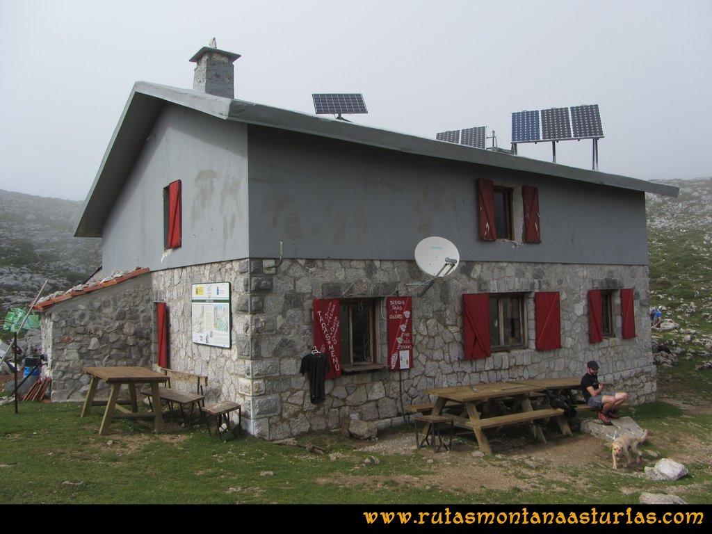 Ruta Ercina, Jultayu, Cuvicente: Refugio de Vega de Ario
