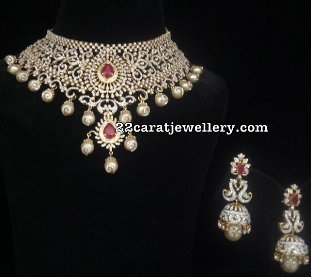 Diamond Emerald Necklace from Bhavani
