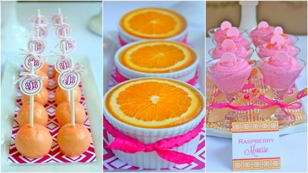 festa rosa laranja