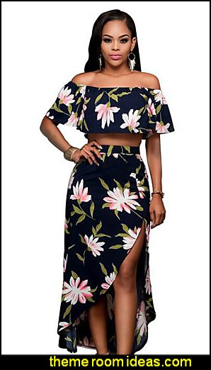 FLORAL Two Piece Dress