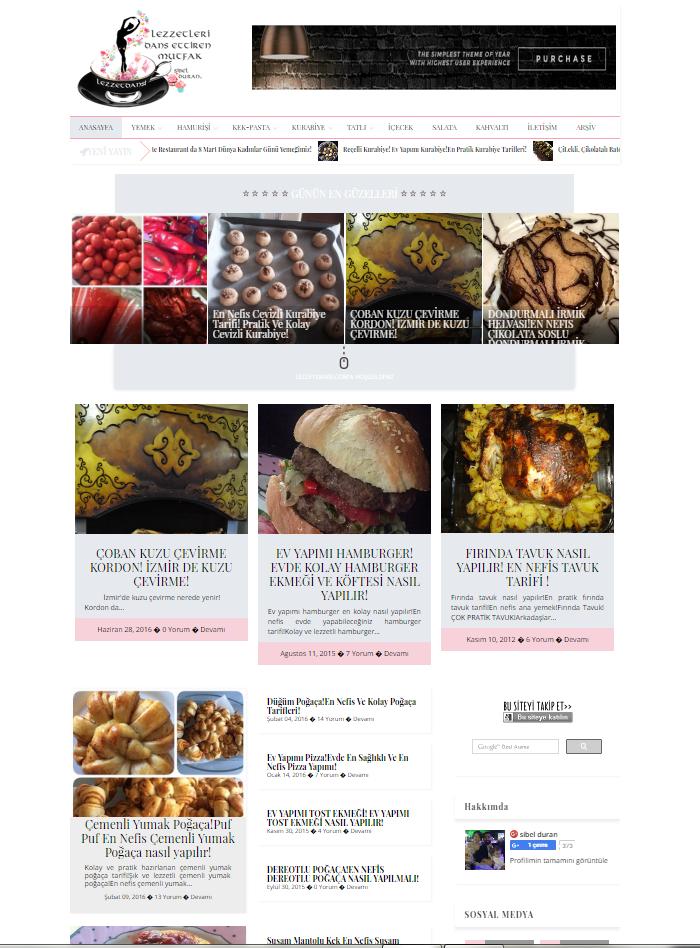 lezzetdansı blogger tema tasarim
