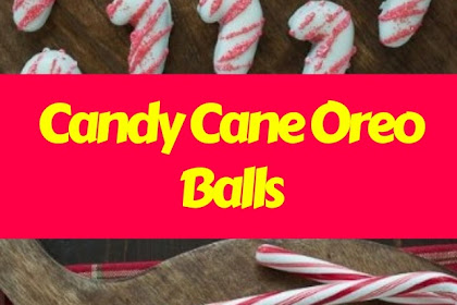 Candy Cane Oreo Balls #christmas #snack
