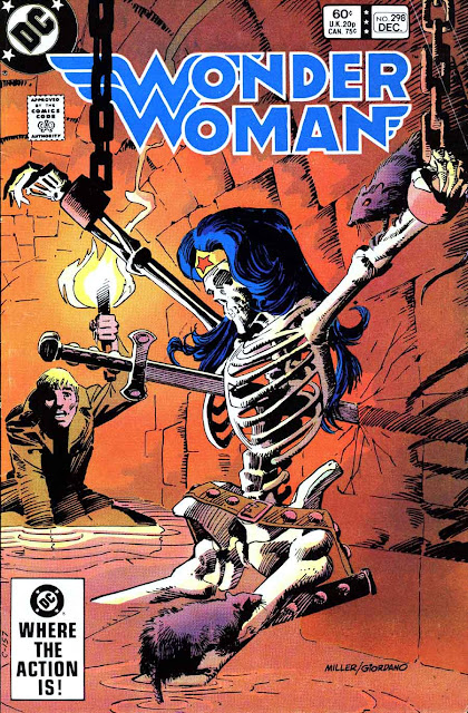 Wonder Woman v1 #298 dc 1980s comic book cover art by Frank Miller