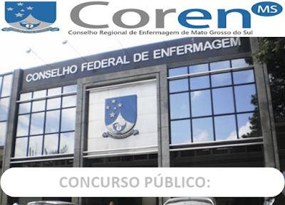 Concurso Público do COREN-MS 2018: Aviso de licitação