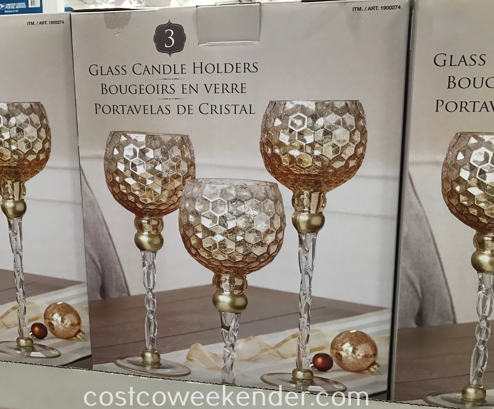 Add some decor to your home with Glass Candle Holders