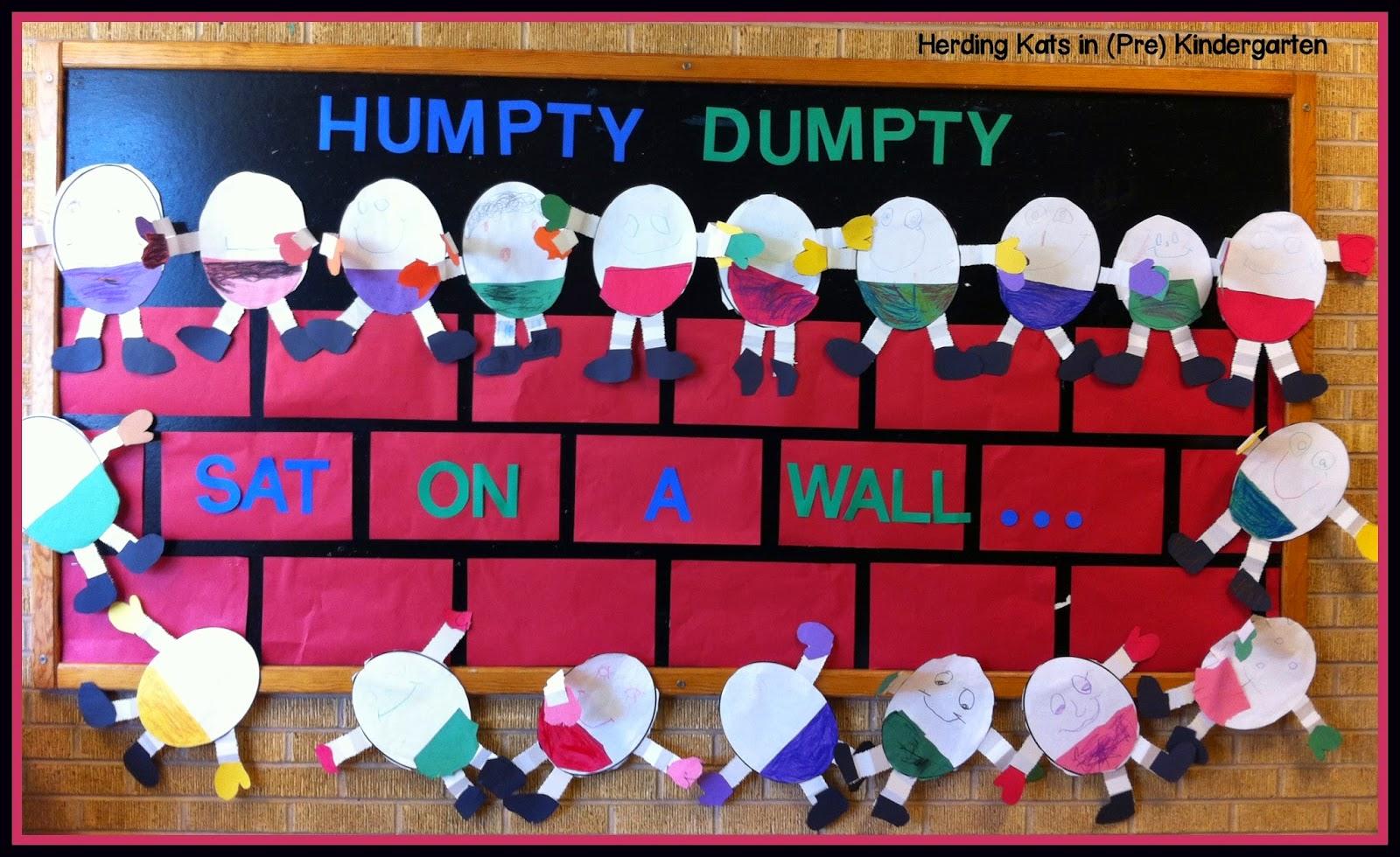 Herding Kats In Kindergarten Humpty Dumpty Amp More