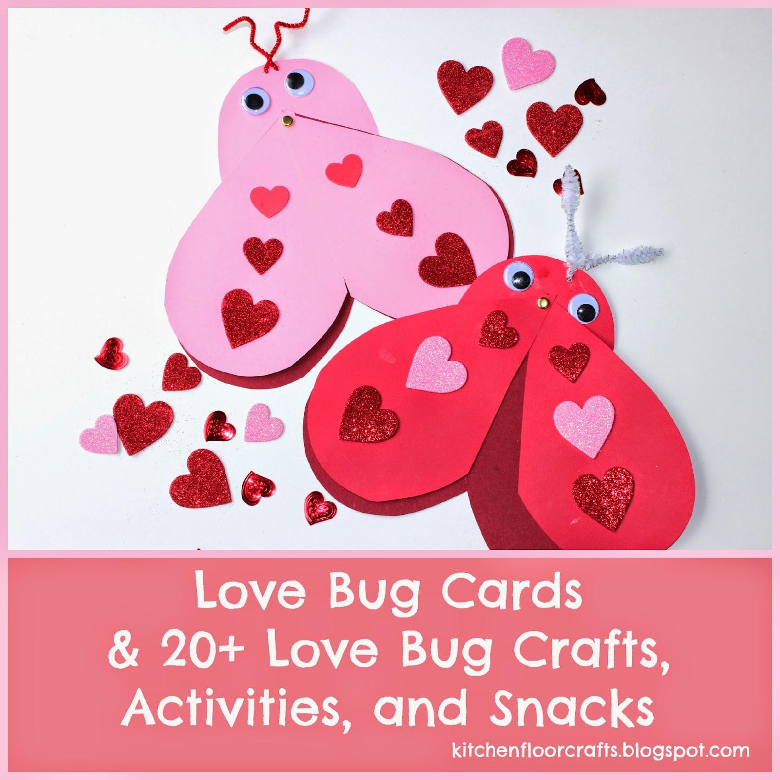 Kitchen Floor Crafts Love Bug Cards Amp 20 Love Bug Crafts