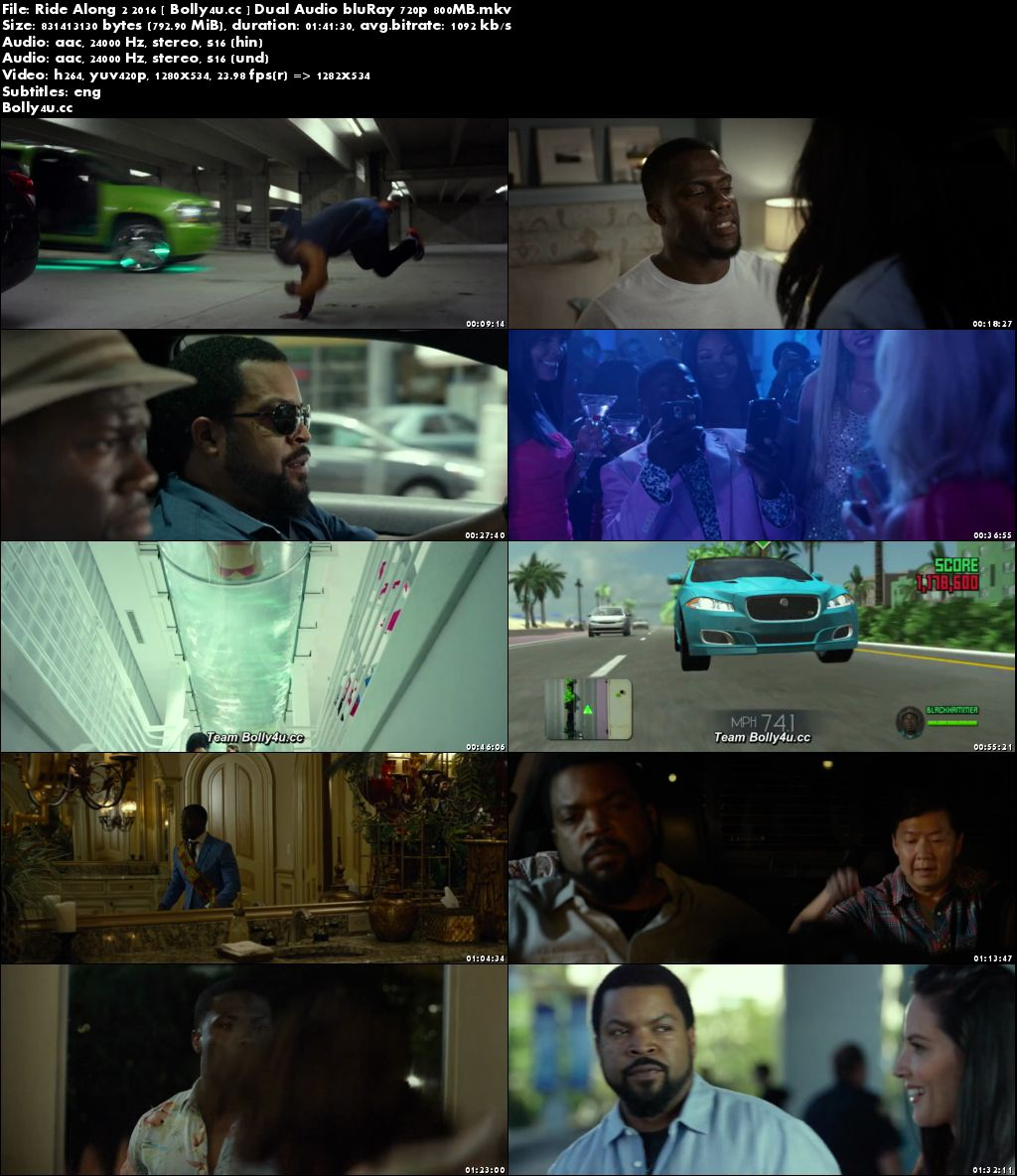 Ride Along 2 2016 BluRay 800Mb Hindi Dual Audio 720p