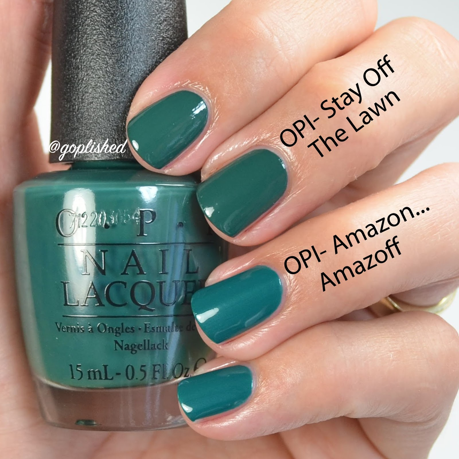 Go Polished: OPI Washington DC Collection Comparisons