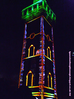Light show on the Carillon Loughborough