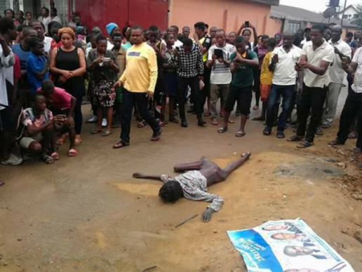 Flying Bird Allegedly Turns Into an Old Woman This Morning in Port Harcourt