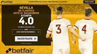 betfair supercuota Sevilla se clasifica ante Basaksehir champions 22 agosto