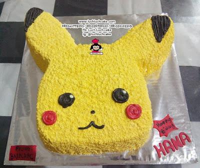 Pokemon Go Pikachu 3d Cake