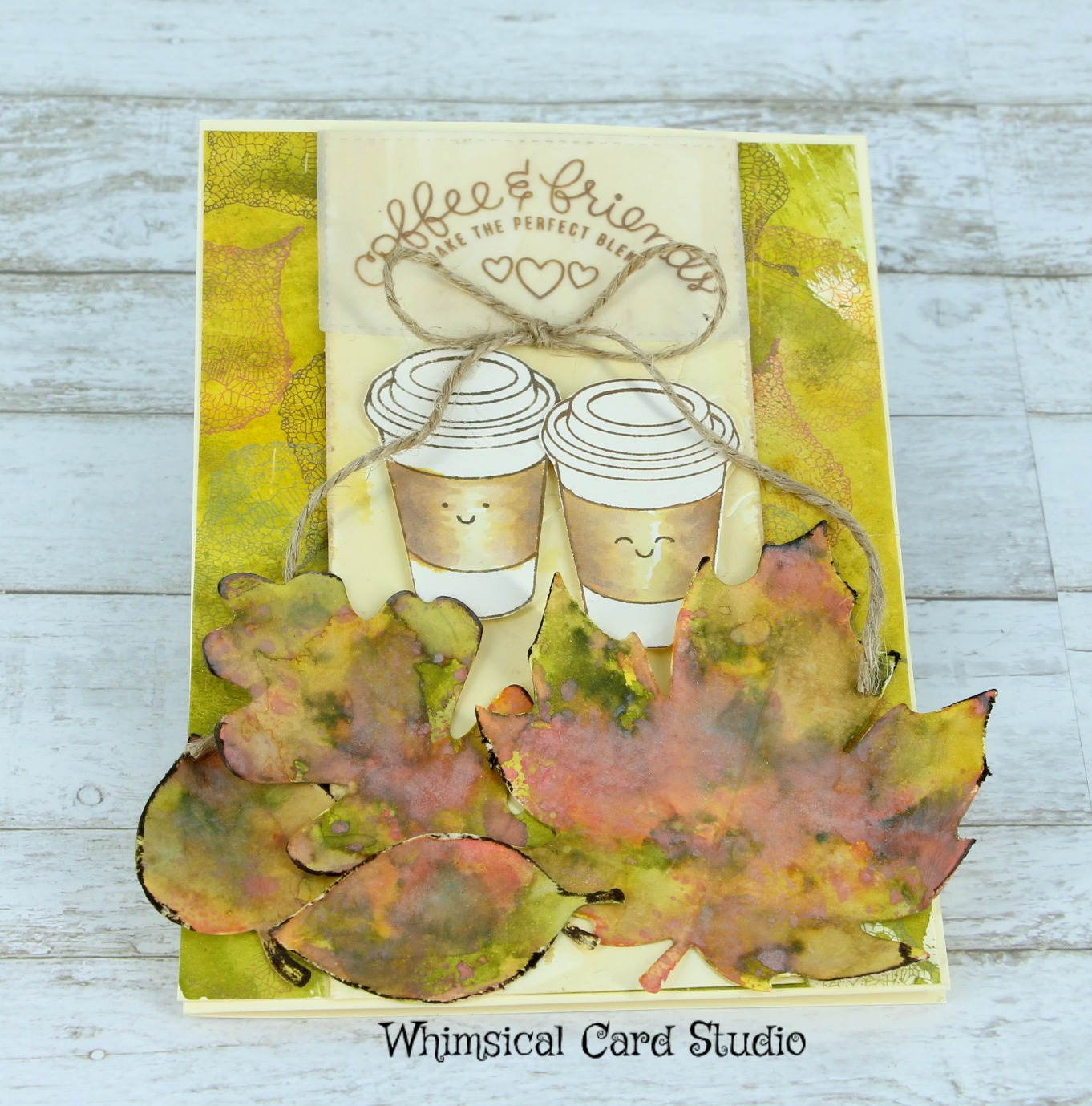 Cream colored cardstock paper studio - I Also Colored A Cardstock Layer On A 4 5 X 6 25 Piece Of Cream Cardstock As A Backdrop With The Same Distress Inks And Stamped Over Top Of It With A Leaf