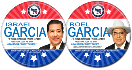 Israel Garcia and Roel Garcia are the Dem Runoff Candidates for JP, Precinct 5, Place 1