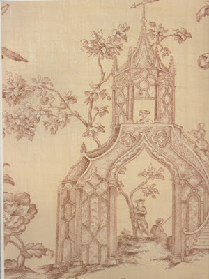 Wallpaper (Gothic-Chinese), Anonymous, c. 1800, USA.