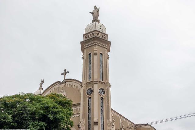 Igreja Imaculado Coração de Maria - detalhe da torre