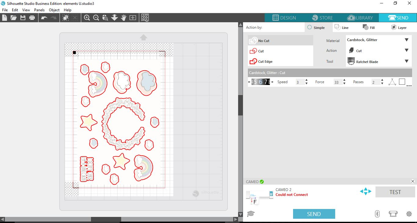 Importing ai and eps files into silhouette v41 design bundles 10 go back to the send screen you can now see that your images from your eps file are simpler to cut print and then cut your design ccuart Image collections
