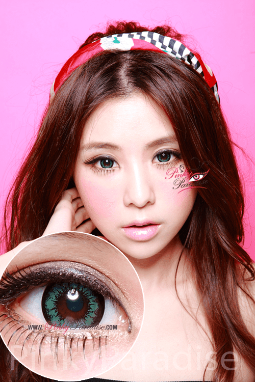 Geo Super Size Angel Green Circle Lenses (Colored Contacts)