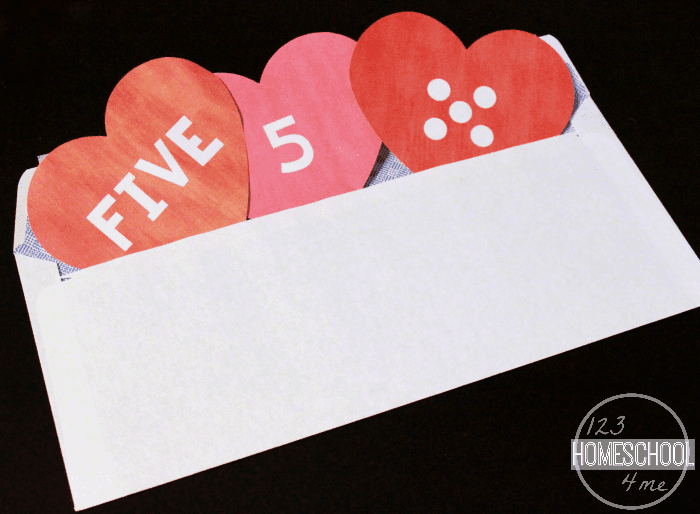 valentine hearts preschool number matching, Ideas