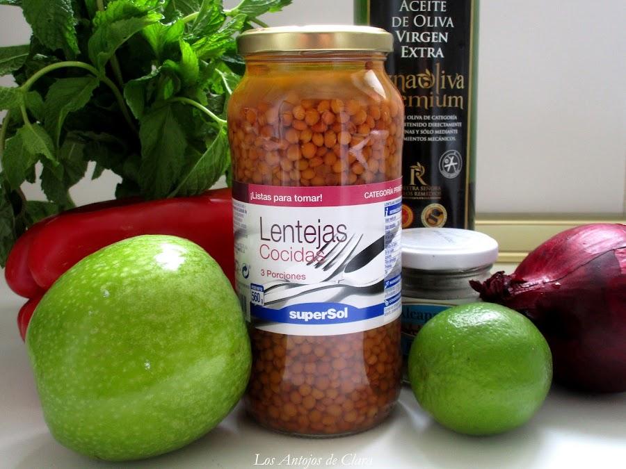 Ingredientes ensalada de lentejas