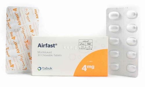 سعر ودواعي إستعمال أقراص أيرفاست Airfast للربو